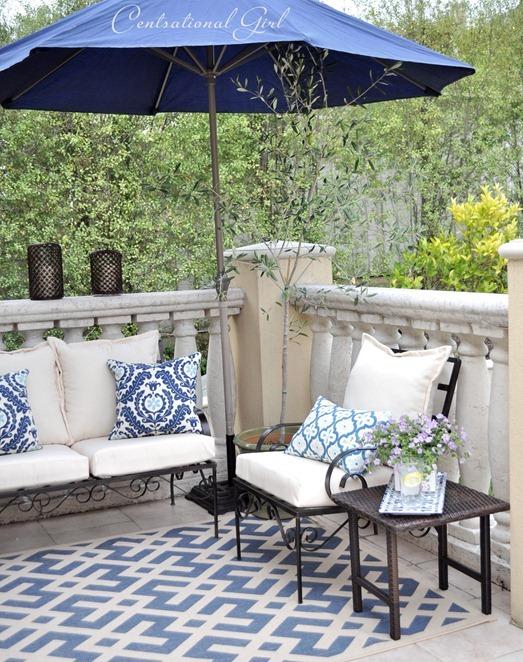 right side blue balcony