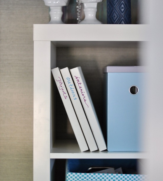 volumes on shelf