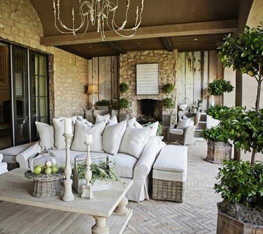 neutral outdoor patio
