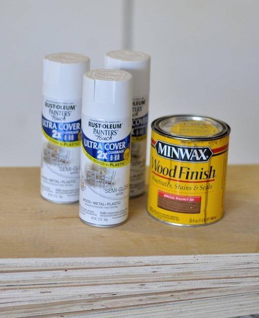 rustoleum spray paint minwax stain