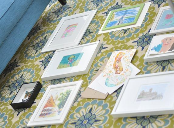 layout framed art