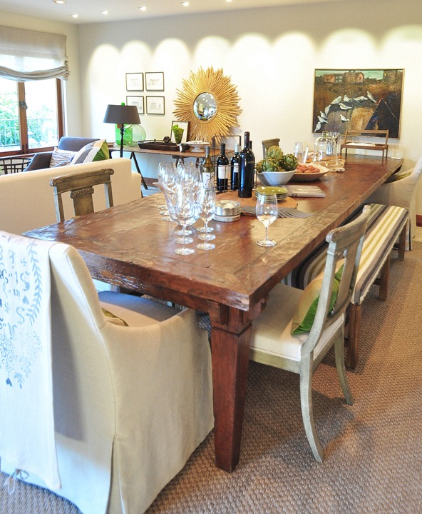 dining table in family room
