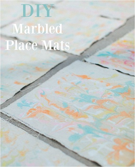 diy marbled placemats ruffled blog