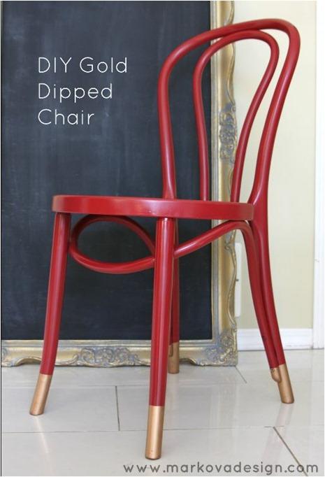 gold dipped chair feet