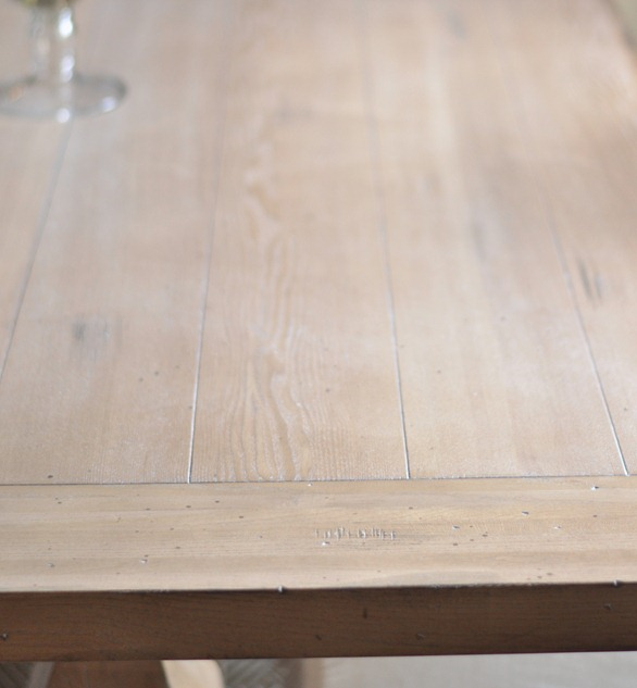 limed oak finish with distressing