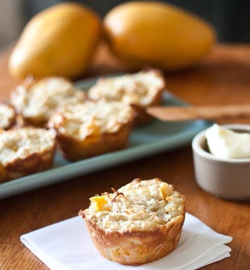 mango oat muffins
