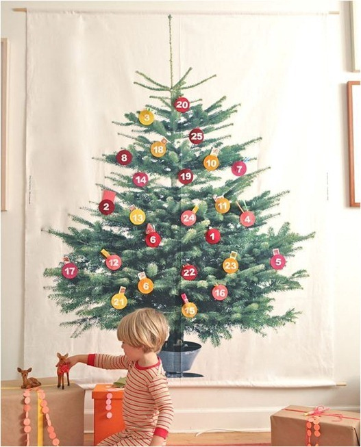 diy fabric christmas tree ohhappyday