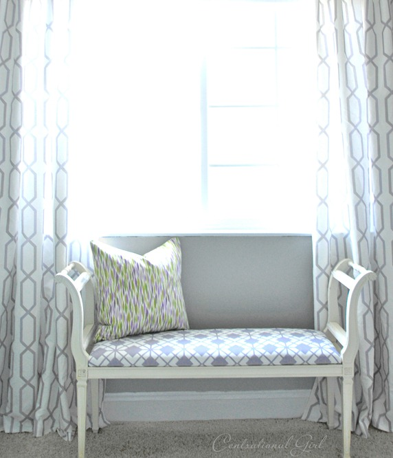 diy geometric pattern window panels