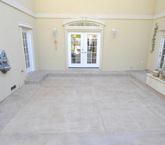 resurfaced courtyard after