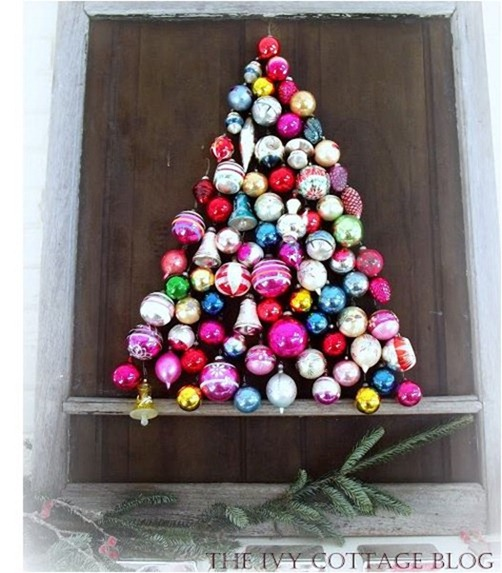 vintage ornament tree ivy cottage