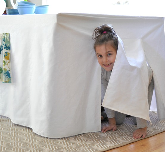 girl in tent