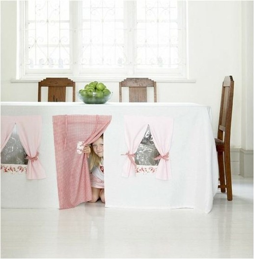 tablecloth tent cool spaces for kids