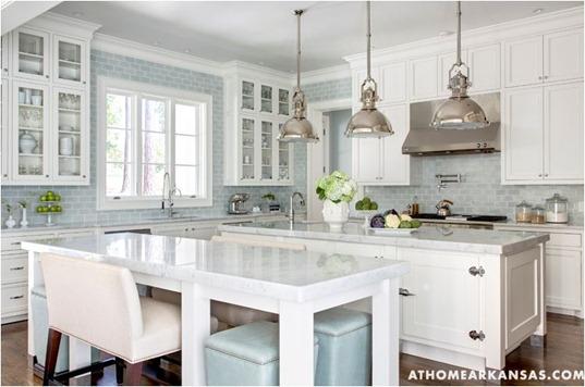 blue and white kitchen athomeinarkasas