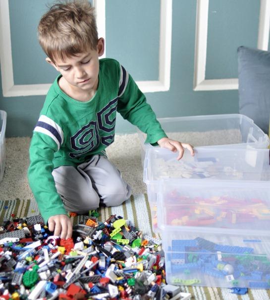 boy and legos