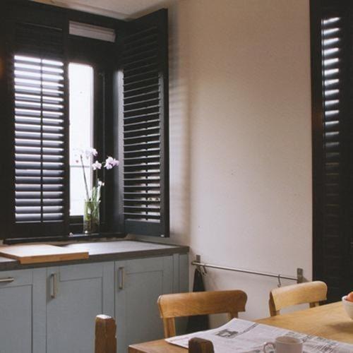dark shutter blinds