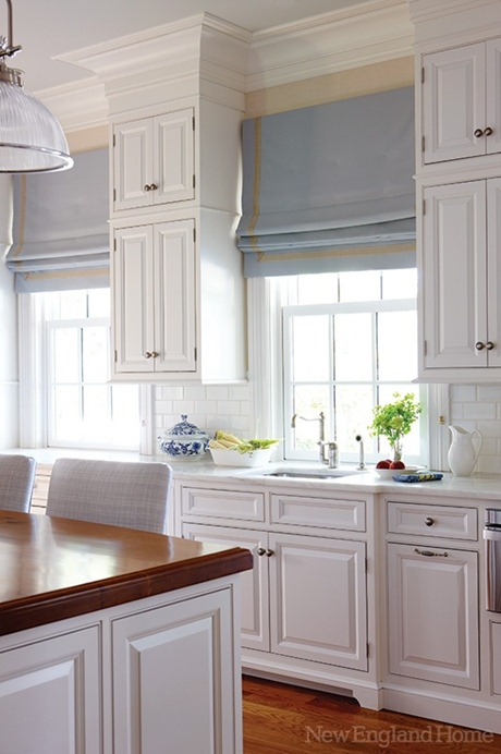 Attractive Roman Shades In Kitchen New England Home Mag Photo Gallery