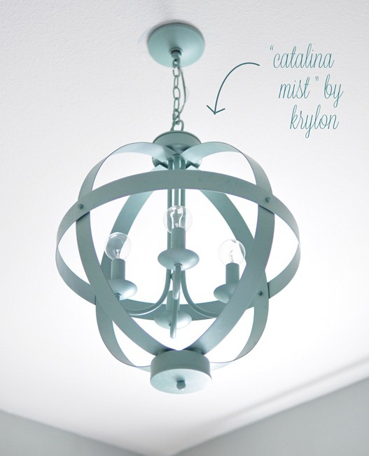 aqua blue orb chandelier
