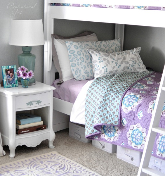 blue and lavender linens