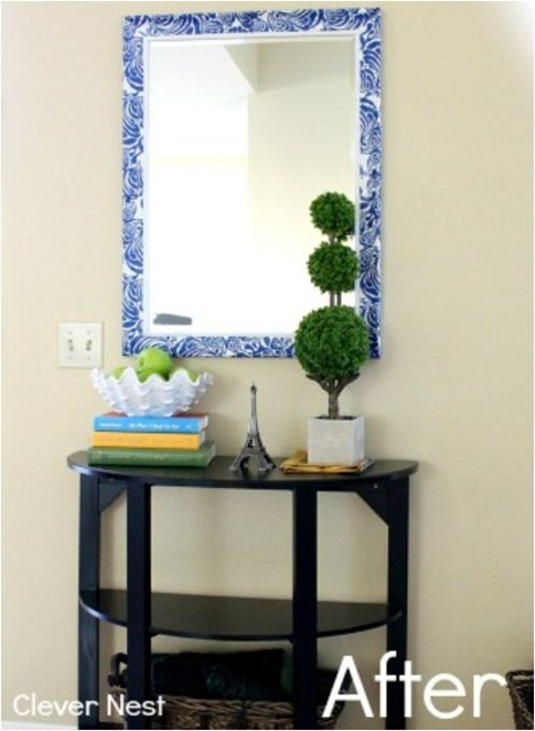 clever nest decoupaged mirror