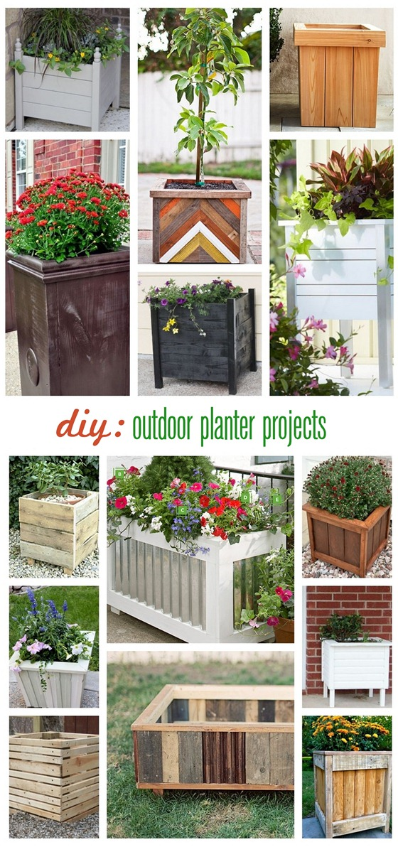 diy outdoor planter projects