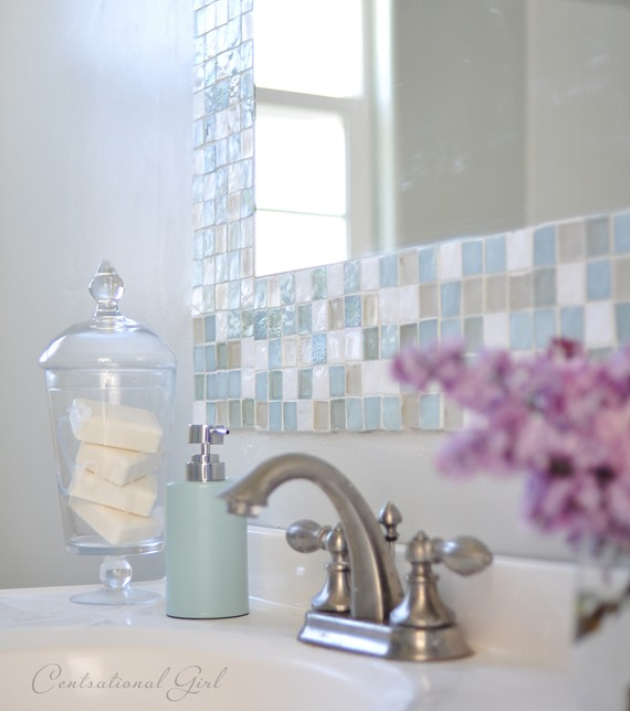 Diy Mosaic Tile Bathroom Mirror Centsational Style