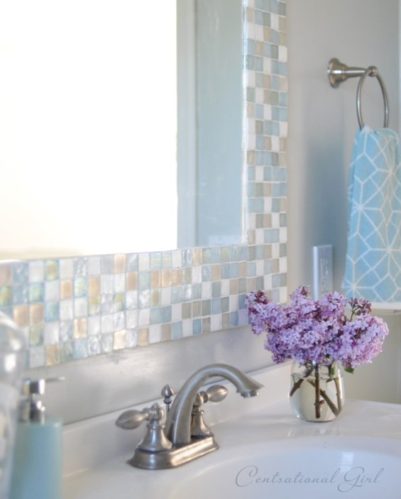 Amazing Diy Mosaic Tile Bathroom Mirror Centsational Style Interior Design Ideas Gentotryabchikinfo