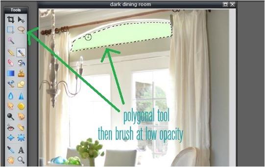polygonal tool plus brush