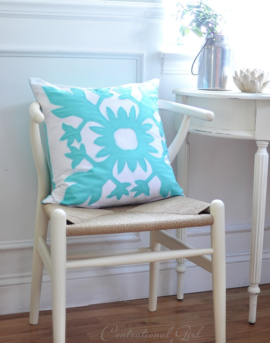 diy aloha applique pillow cover