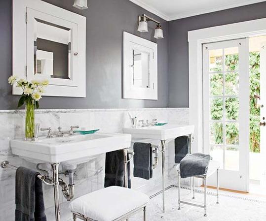 gray walls in bathroom