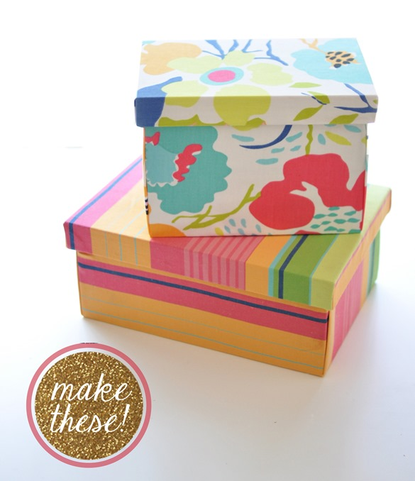 make fabric covered boxes