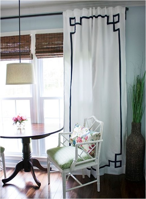 no sew greek key curtains