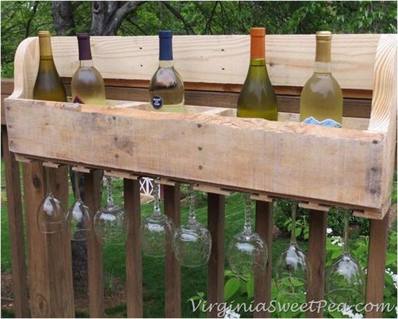 pallet wine rack  virginiasweetpea