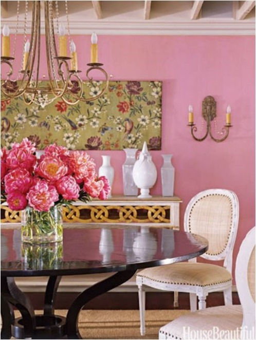 pink walls suzanne kasler house beautiful