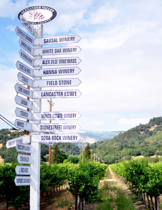 alexander valley winery signs