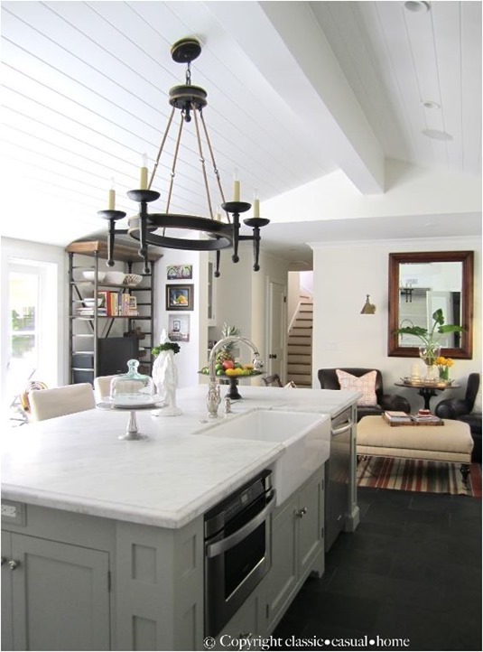 classic casual home plank ceiling