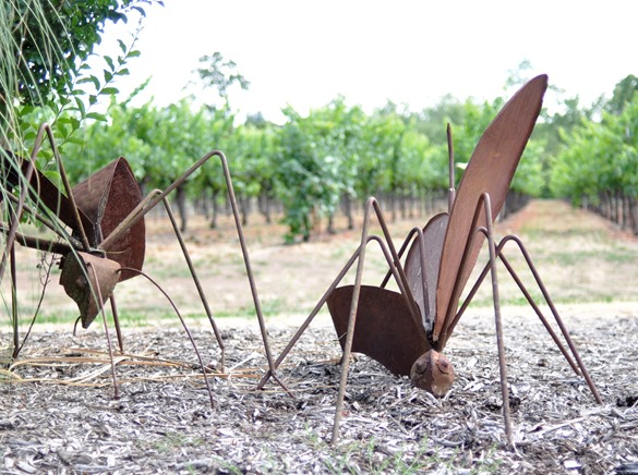 metal insect sculpture