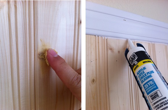wood filler and caulk