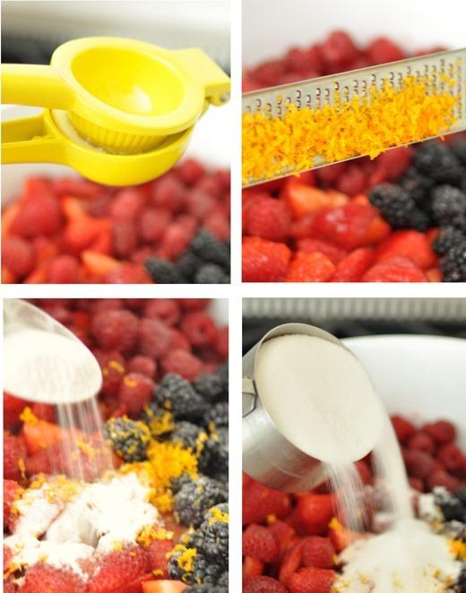 zest juice pectin sugar
