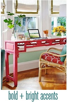 bold and bright accents