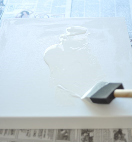 coat of white paint