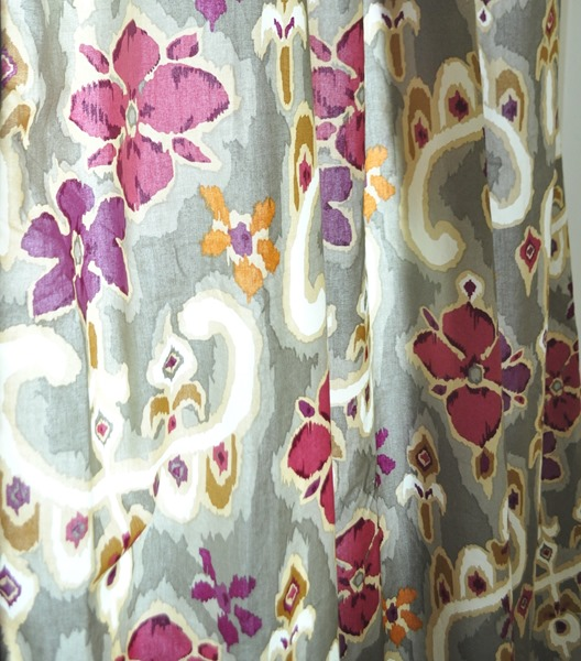 ikat floral fabric
