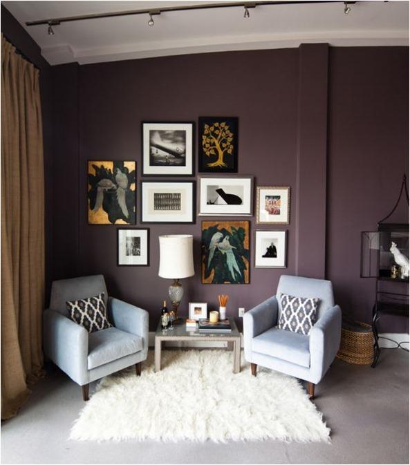 plum paint on wall