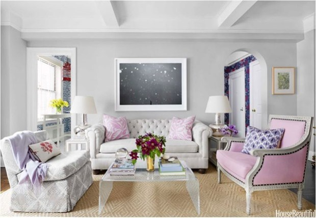 purple accents house beautiful