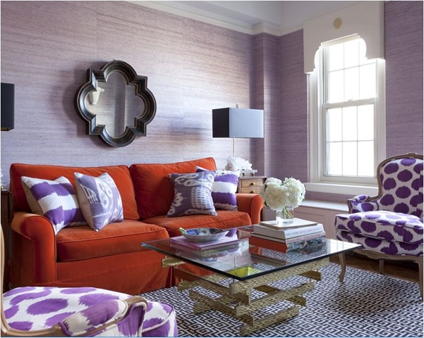 persimmon and purple