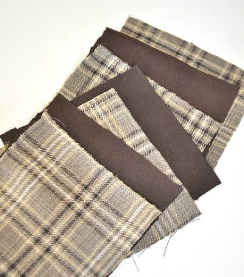 plaid and faux leather