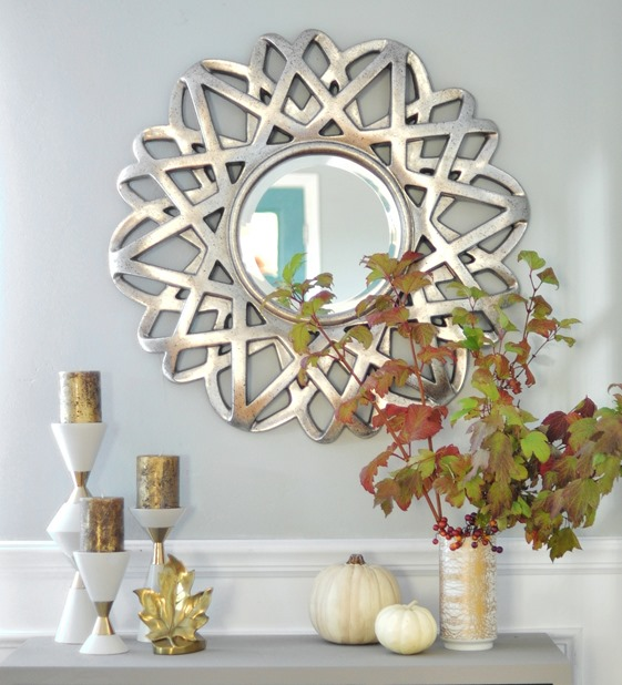 silver mirror and fall accessories