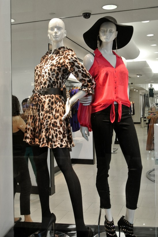 stud heels leopard dress