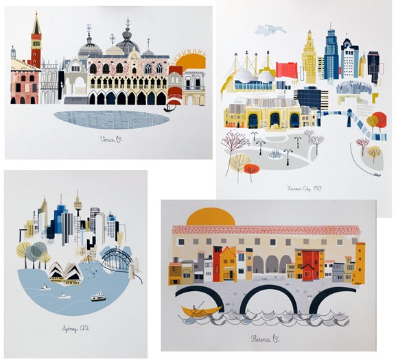 city illustrations albie designs