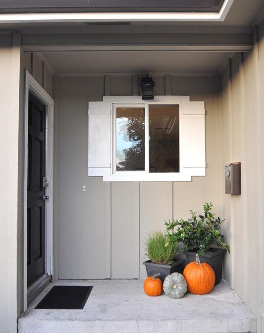 front porch after black front door