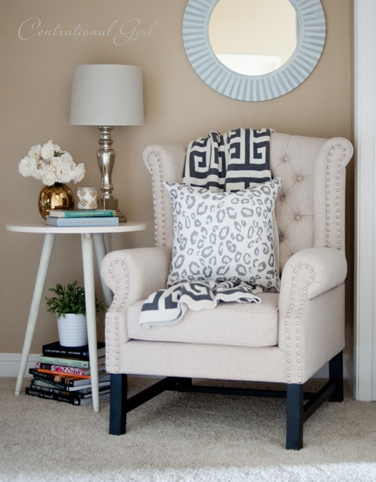 tufted wingback reading chair